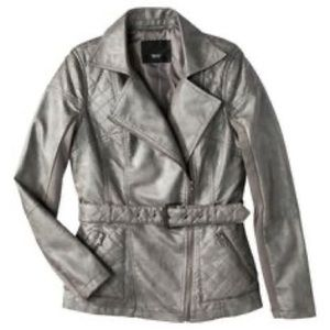 Mossimo Faux Leather Moto Jacket with Belt